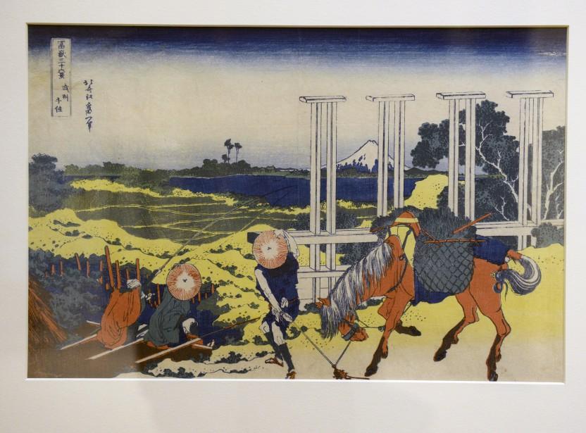 Une des 36 vues du Mont Fuji de Katsushita Hokusai (Le Soleil, Jean-Marie Villeneuve)