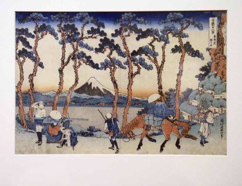 <em>Vue du mont Fuji</em>(vers 1830-1831) de Katsushika Hokusai (Le Soleil, Jean-Marie Villeneuve)