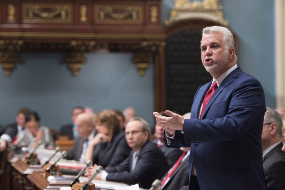 Le premier ministre du Québec, Philippe Couillard.... (Photo Jacques Boissinot, PC)