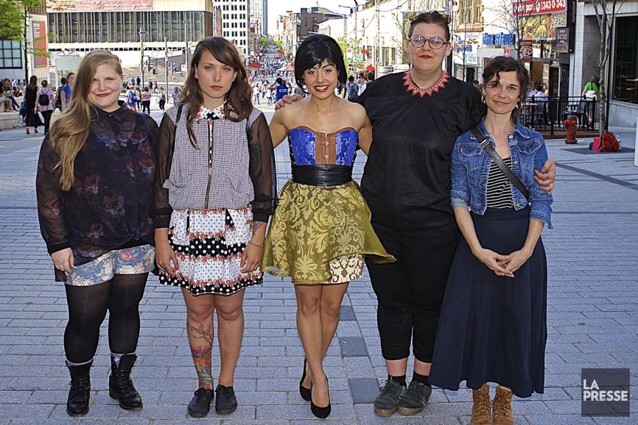 Sarah Bourdon, Rosie Valland, Sally Folk, Safia Nolin... (Photo André Pichette, La Presse)