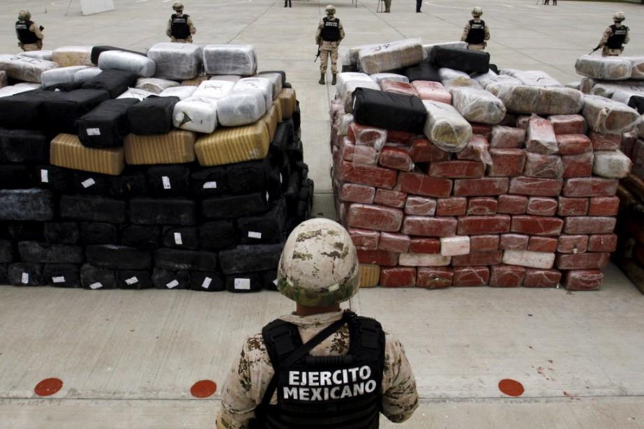 La drogue pourrait appartenir à l'une des organisations... (Photo Jorge Duenes, Reuters)