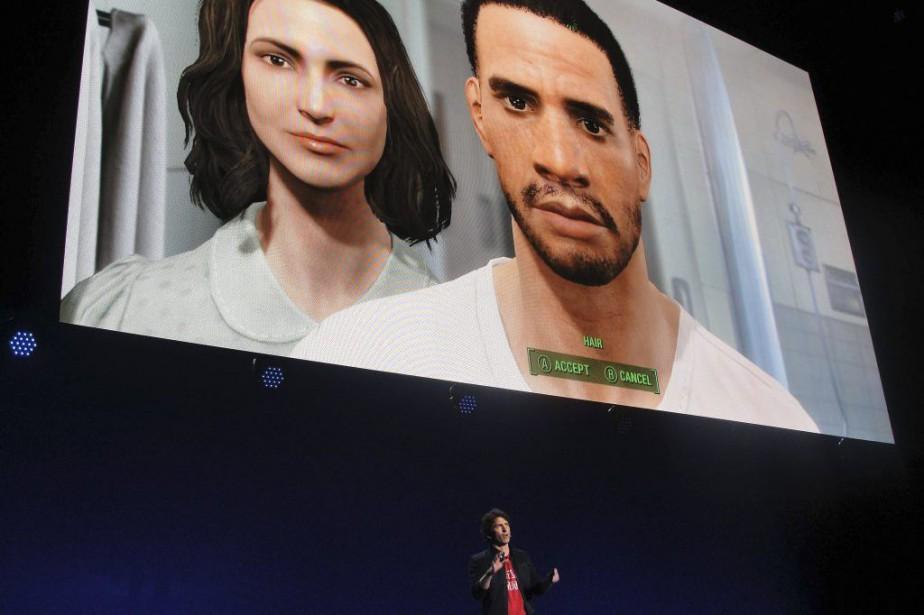 Le directeur des jeux chez Bethesda,Todd Howard, présente... (PHOTO GLENN CHAPMAN, AGENCE FRANCE-PRESSE)