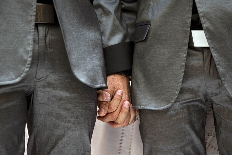 La communauté gaie et lesbienne célébrait lundi une décision de... (Photo: AFP)