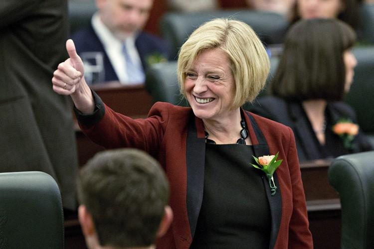 La chef du NPD en Alberta Rachel Notley.... (Photo: PC)