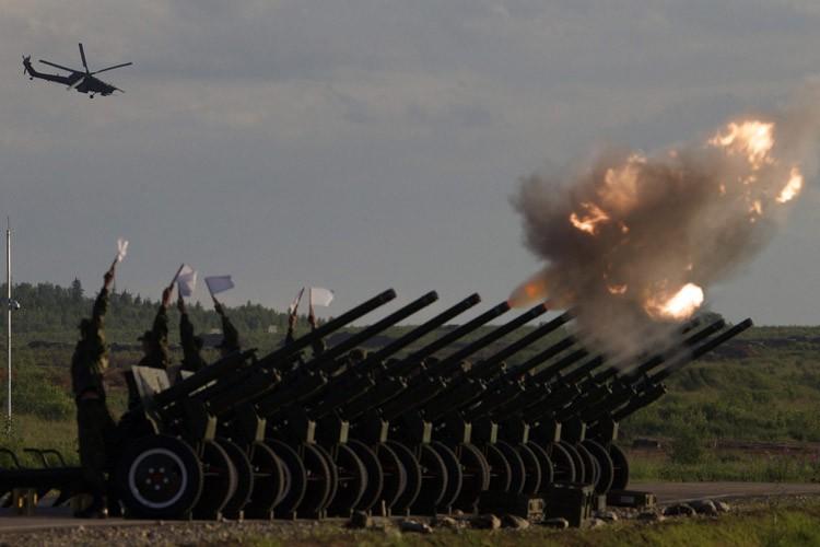 Une démonstration de force de l'armée russe a... (PHOTO AP)