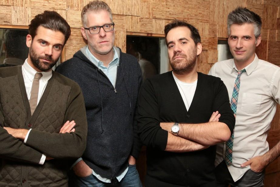 Jean-Philippe Wauthier, Fred Savard, Jean-Sébastien Girard et Olivier... (PHOTO FOURNIE PARICI RADIO-CANADA PREMIÈRE)