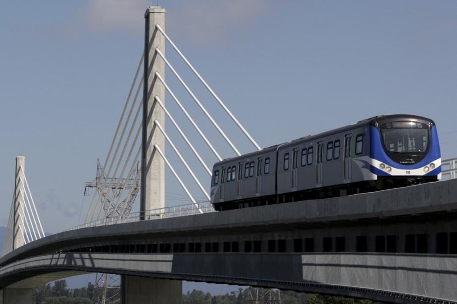 Le Canada Line Rapid Transit Project de Vancouver... (PHOTO DARRYL DYCK, ARCHIVES LA PRESSE CANADIENNE)