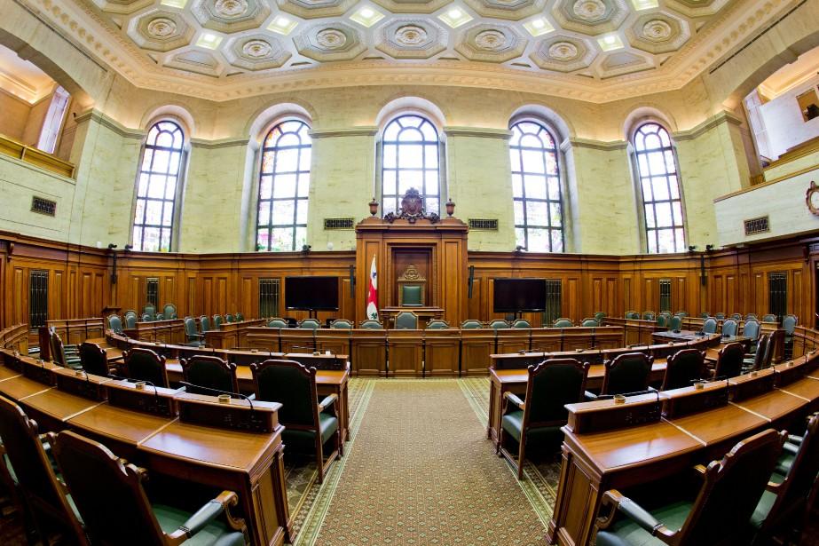 La salle du conseil municipal de Montréal... (PHOTO DAVID BOILY, ARCHIVES LA PRESSE)