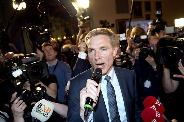 Le président duParti populaire danois, Kristian Thulesen Dahl.... (PHOTO AFP)