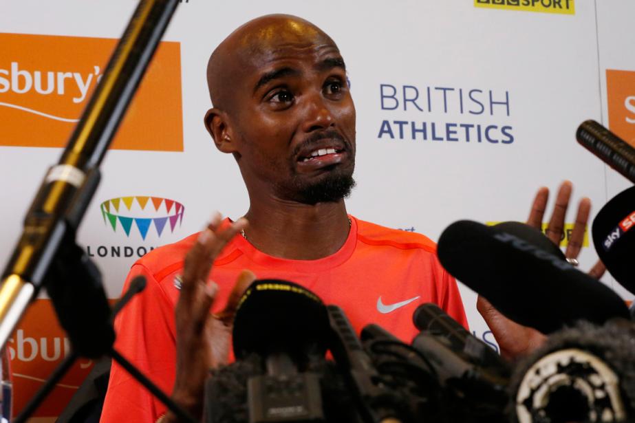 Le double champion olympique Mo Farah a raté... (Photo Andrew Boyers, Reuters)