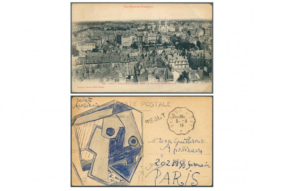 Une carte postale signée d'un dessin de Pablo Picasso a été... (Photo AFP)