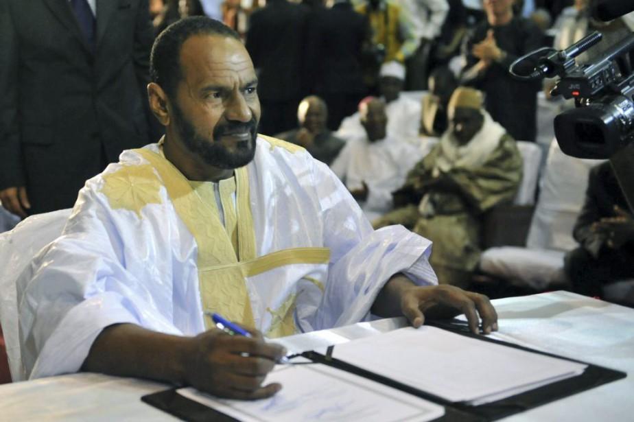 Au nom de la Coordination des mouvements de... (PHOTO HABIBOU KOUYATE, AFP)