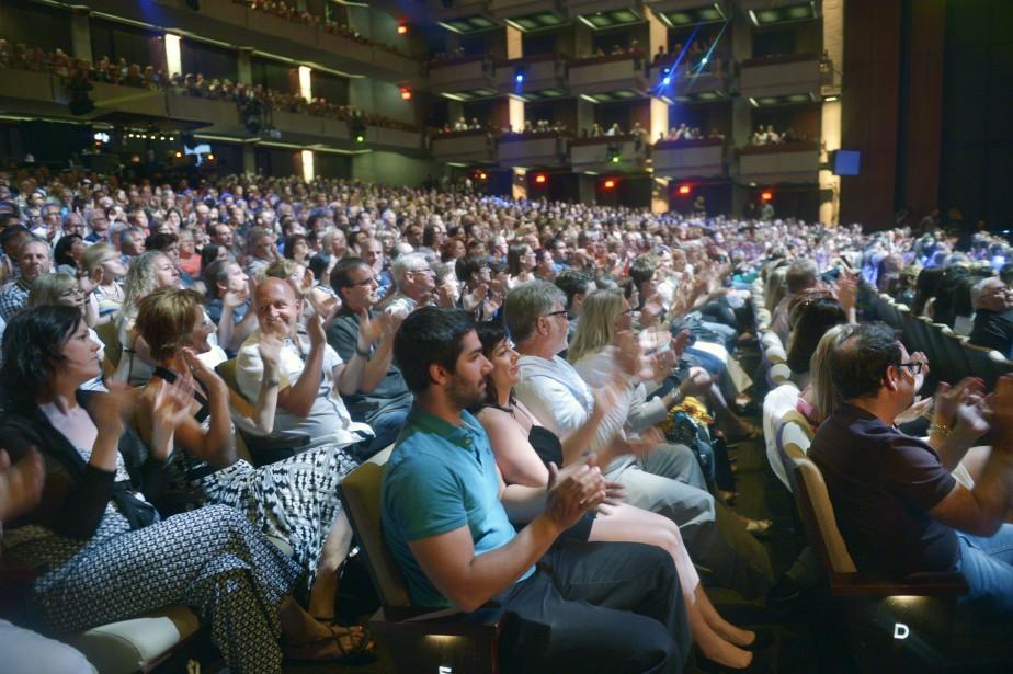 Les deux représentations du gala ComediHa! d'Éric Salvail ont été données devant une salle comble samedi soir, à18h et à21h, dans la salle Louis-Fréchette du Grand Théâtre de Québec. (Le Soleil, Jean-Marie Villeneuve)
