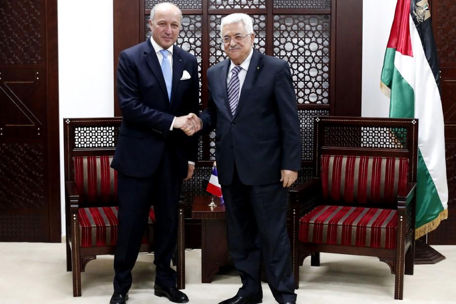 Le chef de la diplomatie française Laurent Fabius... (PHOTO THOMAS COEX, AP)