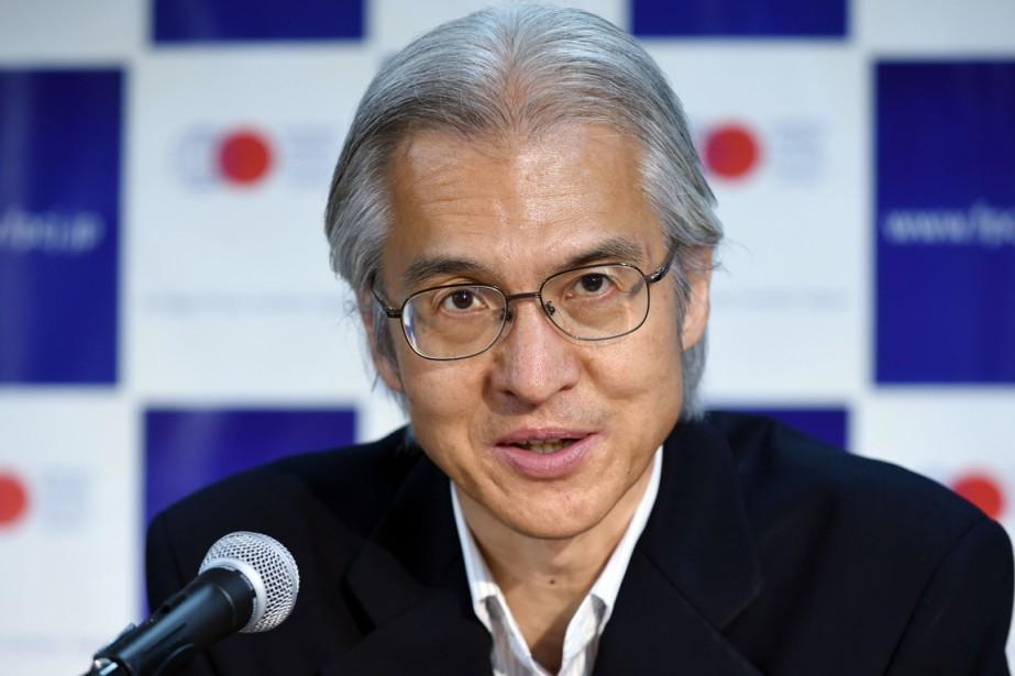 Joji Morishita défend la cause du Japon à... (PHOTO TOSHIFUMI KITAMURA, AFP)
