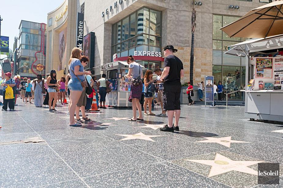 Le Walk of Fame sur le Hollywood Boulevard... (PHOTO ARCHIVES LE SOLEIL)