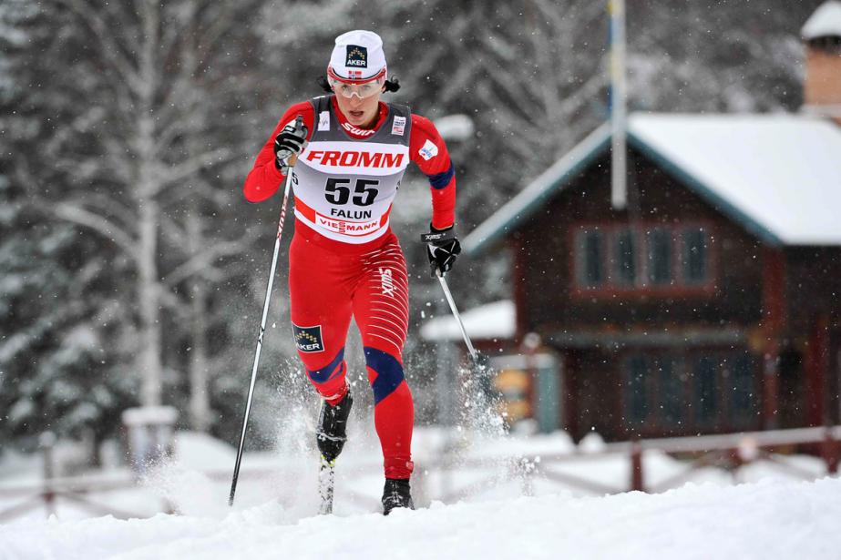 Marit Bjorgen... (Photo Anders Wiklund, Reuters)