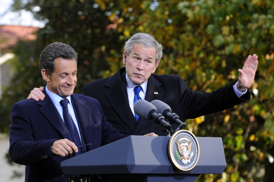 L'entourage de Nicolas Sarkozy - qu'on voit sur... (PHOTO ARCHIVES AFP)