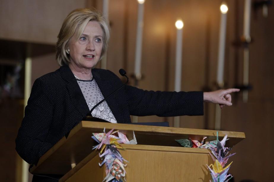 La candidate démocrate à la présidence, Hillary Clinton... (Photo Jeff Roberson, AP)