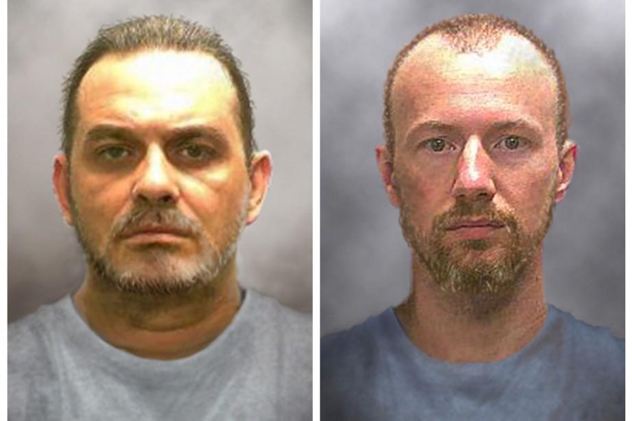 Richard Matt (à gauche sur la photo) était... (PHOTO REUTERS/POLICE DE L'ÉTAT DE NEW YORK)