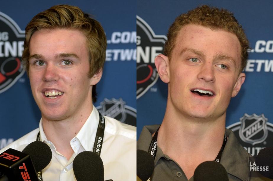 Connor McDavid et Jack Eichel seront respectivement le... (PHOTOMONTAGE LA PRESSE)