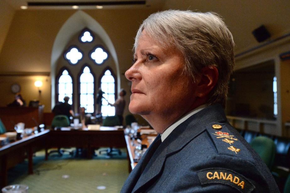 La major-générale de l'armée canadienne Christine Whitecross... (Photo Sean Kilpatrick, La Presse Canadienne)