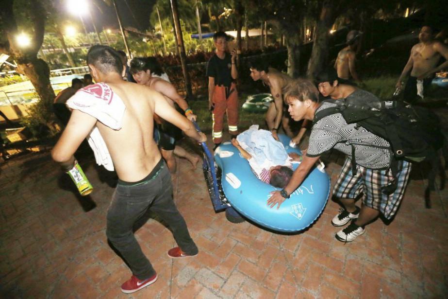 L'explosion a eu lieu alors que des centaines... (Photo Central News Agency / AP)
