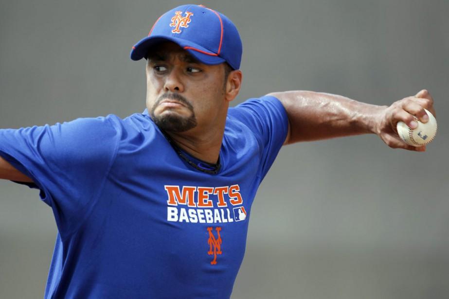 Johan Santana n'a pas lancé dans les Ligues... (Photo Jeff Roberson, archives AP)