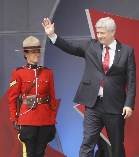 Le premier ministre du Canada Stephen Harper (Simon Séguin-Bertrand, LeDroit)