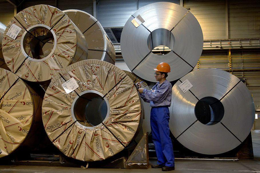 «La production d'acier brut a diminué dans toutes... (Photo Paul O'Driscoll, Bloomberg News)