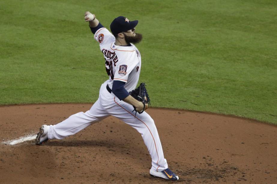 L'as des Astros Dallas Keuchel est à égalité... (Photo Pat Sullivan, AP)