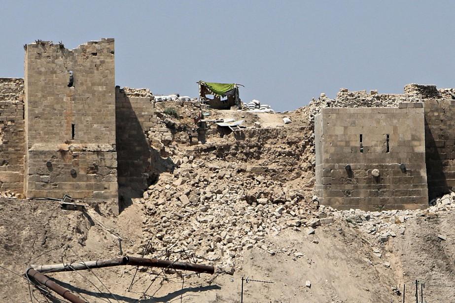 Une section des remparts de la citadelle d'Alep... (Photo Abdalrhman Ismail, Reuters)