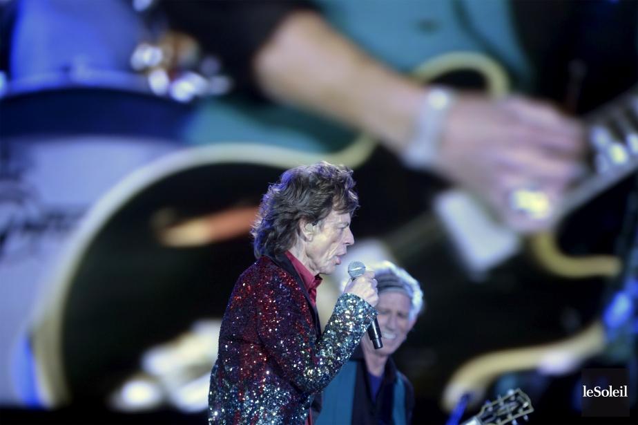 Mick Jagger et sa bande ont pris d'assaut la scène Bell. (Le Soleil, Jean-Marie Villeneuve)