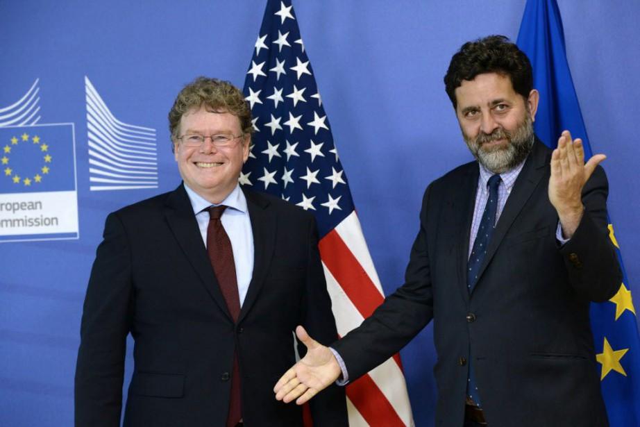 Dan Mullaney, négociateur principal des États-Unis pour le... (PHOTO THIERRY CHARLIER, AFP)