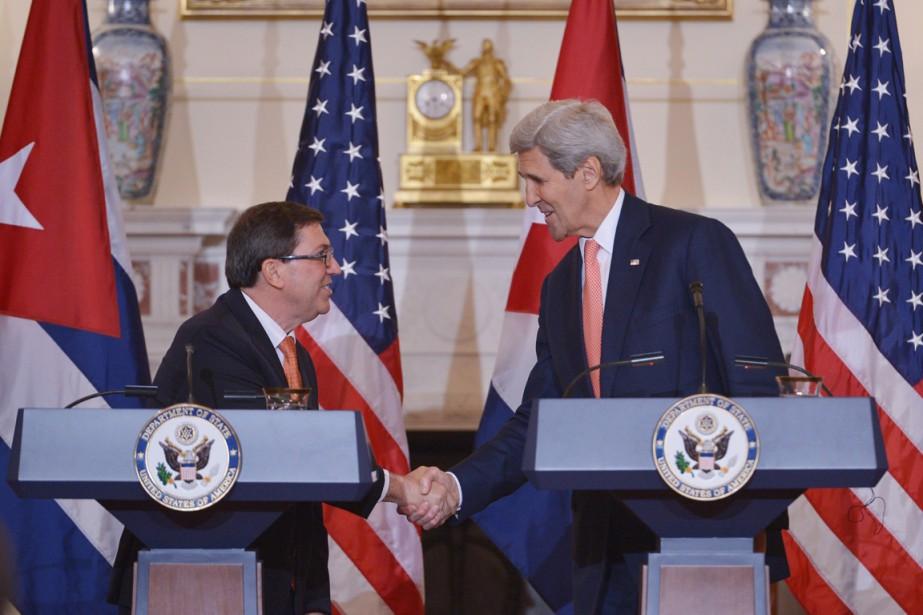 Le ministre des Affaires étrangères cubain Bruno Rodriguez... (Photo Mandel Ngan, AFP)