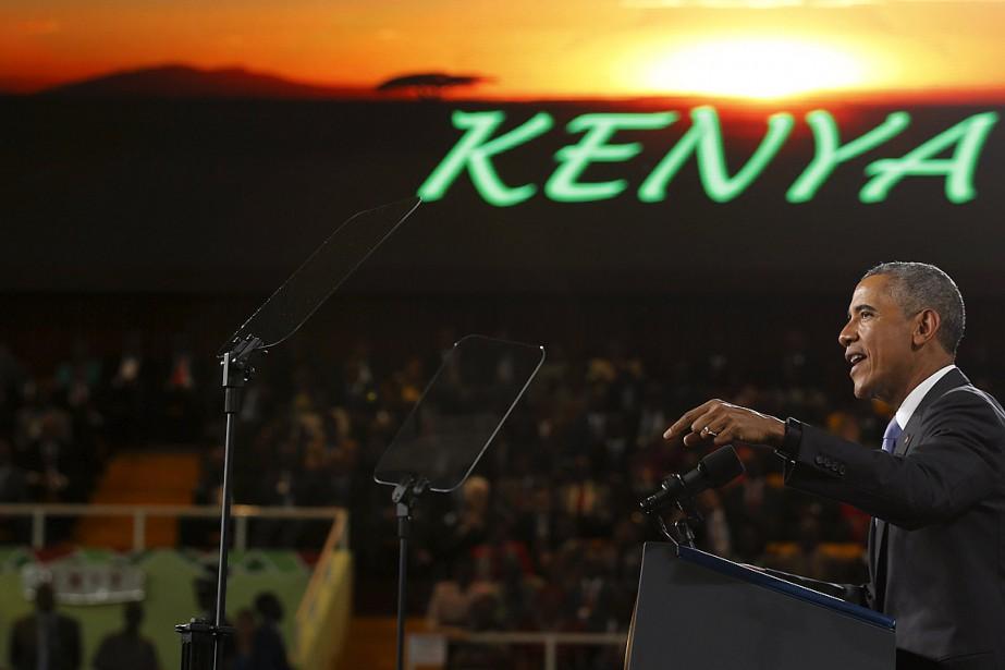 Le dirigeant américain a largement usé du registre... (Photo Jonathan Ernst, Reuters)