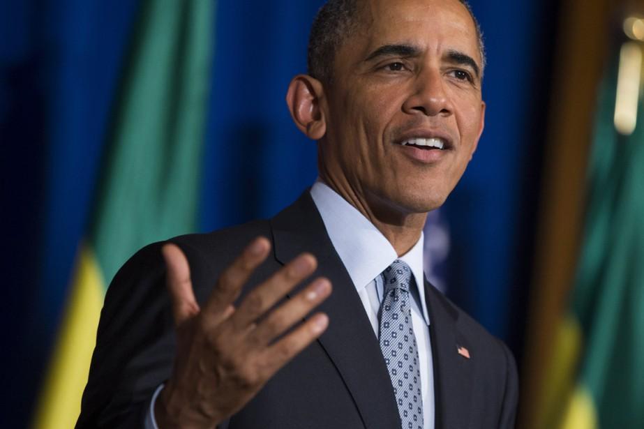 Le président Obama effectue lundi et mardi une... (PHOTO EVAN VUCCI, AP)