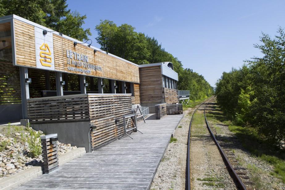 La gare de Petite-Rivière-Saint-François, située au pied du Massif de Charlevoix (Le Soleil, Caroline Grégoire)