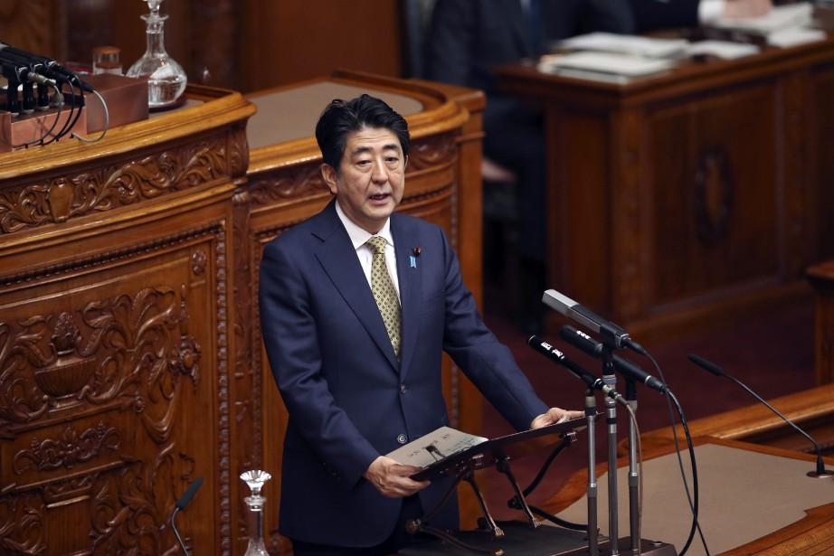 La parti Parti libéral-démocrate (PLD) deShinzo Abe aurait... (Photo Koji Sasahara, AP)