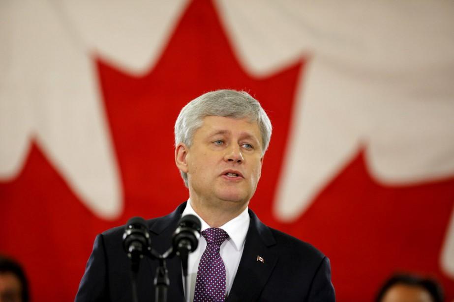 Stephen Harper a mis près plus an avant... (Photo Chris Helgren, Reuters)
