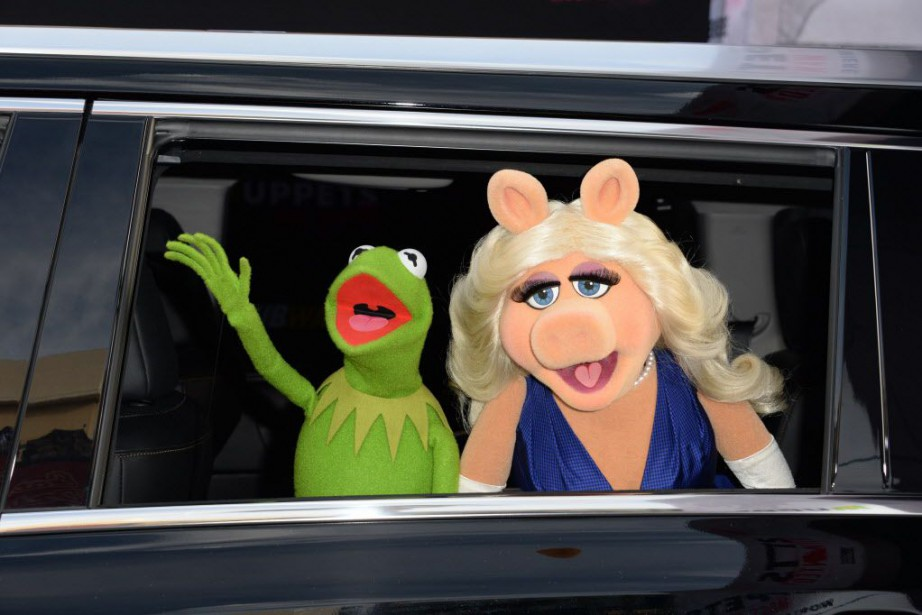 Peggy, Miss Piggy en anglais et Kermit étaient... (PHOTO ROBYN BECK, AFP)