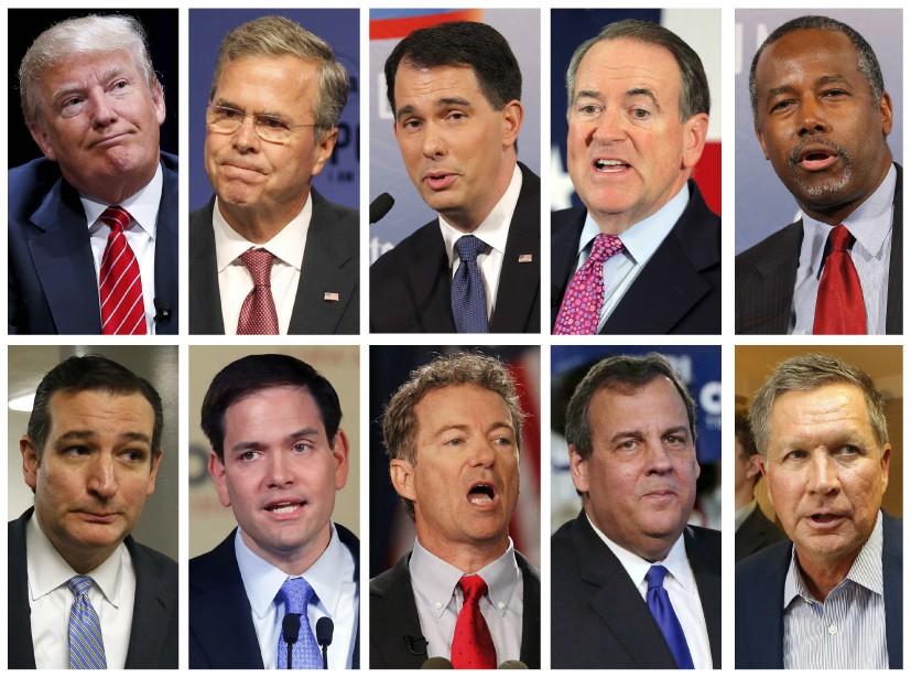 Seuls dix candidats républicains sur dix-sept - les... (Photomontage Reuters)