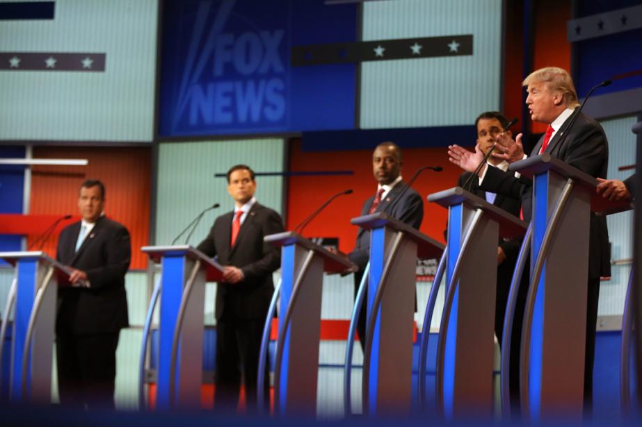 Donald Trump (à droite) a été le centre... (Photo Andrew Harnik, AP)