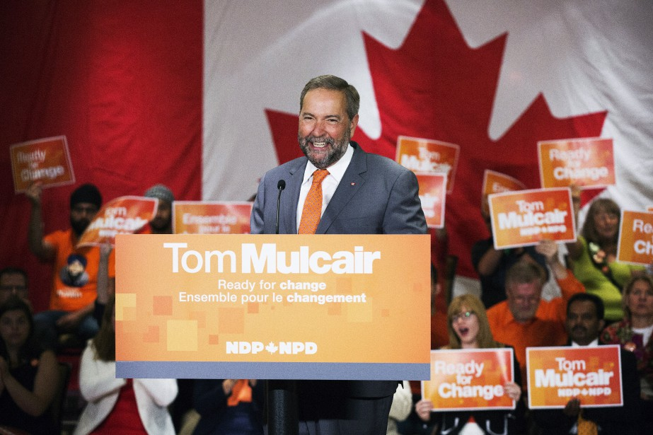 Le chef du NPD, Thomas Mulcair... (Photo Michelle Siu, La Presse Canadienne)
