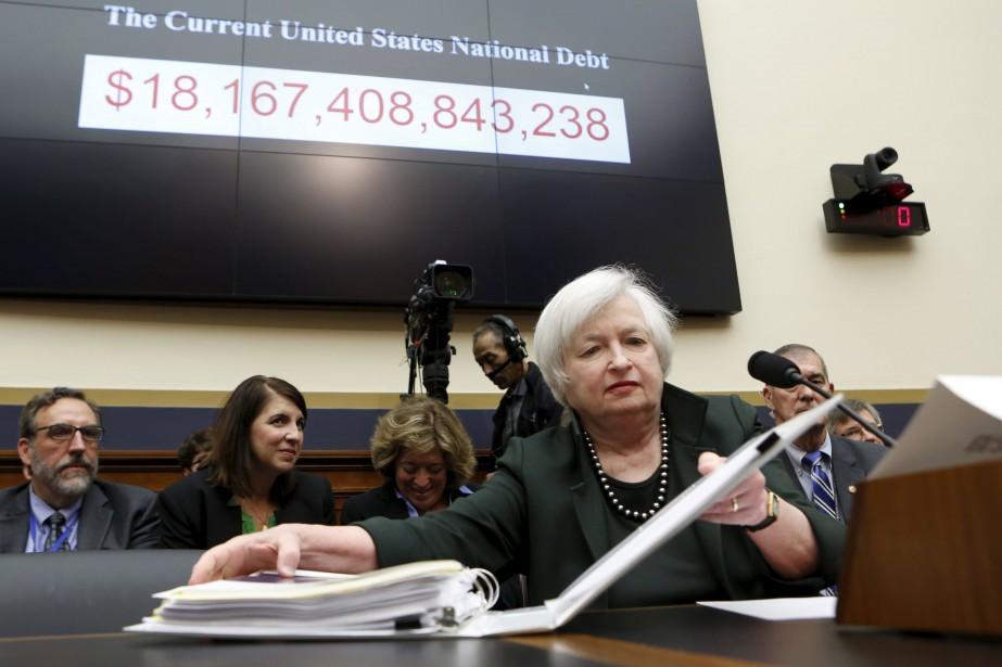 La directrice de la fedJanet Yellen devant le... (PHOTO ARCHIVES REUTERS)