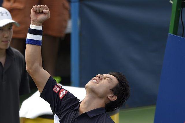 Pour une troisième fois en cinq matchs, Nishikori... (Photo archives AP)