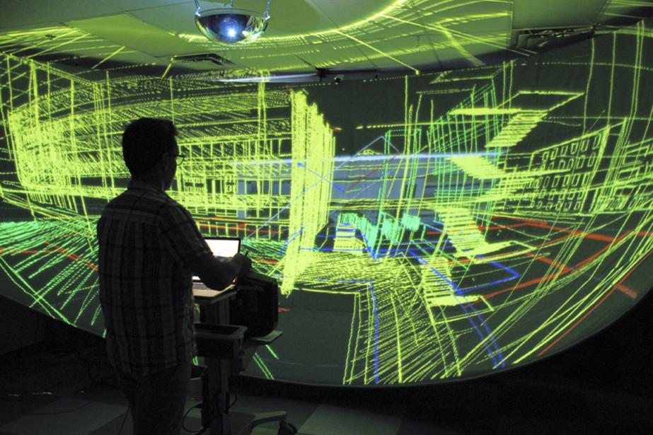 La nouvelle souris permet notamment de plonger dans... (Photo fournie par l'école de design de l'Université de Montréal)