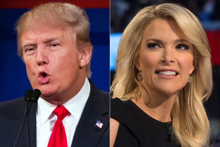 Donald Trump et Megyn Kelly.... (Photo John Minchillo, AP)