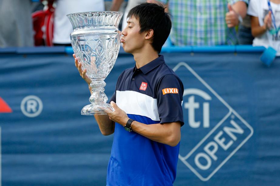 Kei Nishikori a remporté le tournoi de Washington,... (Photo Geoff Burke, USA Today)