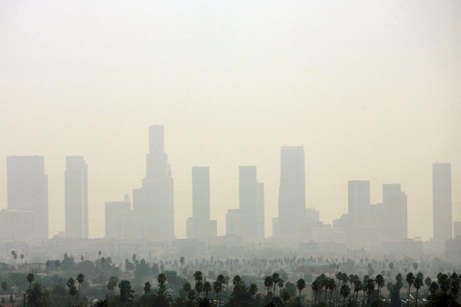 La quantité d'air pollué venu de Chine au-dessus... (Photo Gabriel Bouys, archives AFP)